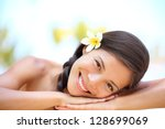 woman natural beauty. beautiful ... | Shutterstock . vector #128699069