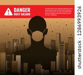 danger dust hazard concept with ... | Shutterstock .eps vector #1286993926