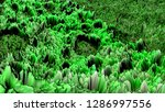 green abstract three... | Shutterstock . vector #1286997556