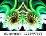 3d abstract fractal background. ...   Shutterstock . vector #1286997916