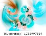 3d abstract fractal background. ...   Shutterstock . vector #1286997919