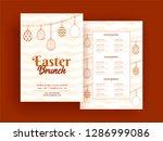 easter brunch menu card or... | Shutterstock .eps vector #1286999086