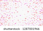 heart shapes watercolor... | Shutterstock . vector #1287001966