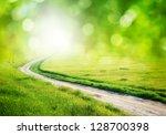 deep road. element of design. | Shutterstock . vector #128700398