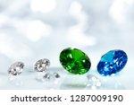 diamonds  blue sapphire and... | Shutterstock . vector #1287009190