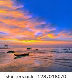 sundown at koh kood island in...   Shutterstock . vector #1287018070