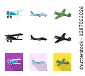 bitmap design of plane and... | Shutterstock . vector #1287023026