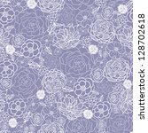 purple lace flowers seamless... | Shutterstock . vector #128702618