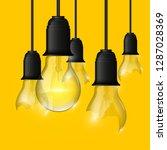 broken   whole light bulb...   Shutterstock .eps vector #1287028369