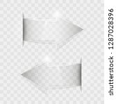 transparent arrow banners set.... | Shutterstock .eps vector #1287028396