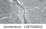 urban vector city map of... | Shutterstock .eps vector #1287028810