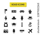 seasonal icons set with air... | Shutterstock .eps vector #1287032263