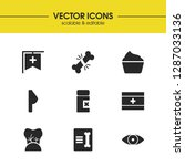 medicine icons set with first...