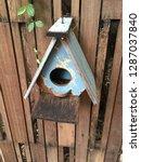 bird home in nature garden   Shutterstock . vector #1287037840