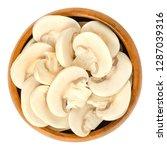 sliced white champignon... | Shutterstock . vector #1287039316