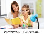 education  family and learning... | Shutterstock . vector #1287040063