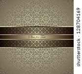 vintage card with a border on... | Shutterstock .eps vector #128704169