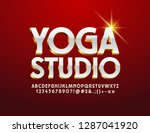 vector stylish emblem yoga... | Shutterstock .eps vector #1287041920