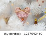 christmas garland in the form...   Shutterstock . vector #1287042460