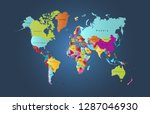 color world map vector | Shutterstock .eps vector #1287046930