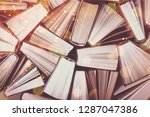 old and used hardback books | Shutterstock . vector #1287047386
