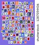 alphabet collage abc vector... | Shutterstock .eps vector #1287054436