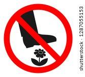 do not step on flowers sign.... | Shutterstock .eps vector #1287055153