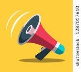 megaphone icon. vector... | Shutterstock .eps vector #1287057610
