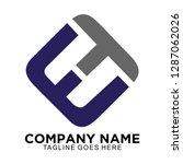 et logo for business company | Shutterstock .eps vector #1287062026