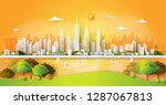 city panorama skyline with...   Shutterstock .eps vector #1287067813
