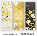 three easter vertical banners... | Shutterstock .eps vector #1287080143