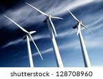 powerful and ecological energy... | Shutterstock . vector #128708960