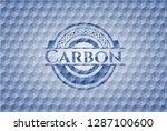 carbon blue polygonal emblem. | Shutterstock .eps vector #1287100600