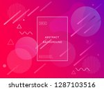 colorful geometric pink... | Shutterstock .eps vector #1287103516