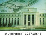 the federal reserve building in ... | Shutterstock . vector #128710646