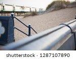 a rustic metal seaside...   Shutterstock . vector #1287107890
