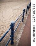 a rustic metal seaside...   Shutterstock . vector #1287107896
