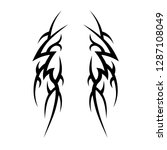tribal tattoo design template | Shutterstock .eps vector #1287108049