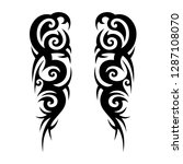 tribal tattoo design template | Shutterstock .eps vector #1287108070