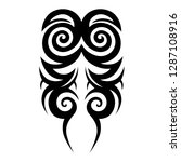 tribal element design vector | Shutterstock .eps vector #1287108916
