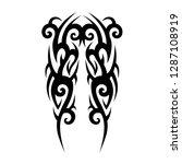 tribal sleeve tattoo pattern...   Shutterstock .eps vector #1287108919