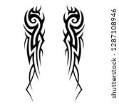 tribal element design vector | Shutterstock .eps vector #1287108946