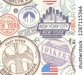 seamless pattern with visa... | Shutterstock .eps vector #1287115366