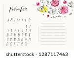 november calendar with ink... | Shutterstock .eps vector #1287117463