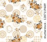 seamless duvet cover... | Shutterstock . vector #1287119689