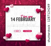valentines day banner with... | Shutterstock .eps vector #1287124249