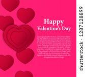 illustration love romance... | Shutterstock .eps vector #1287128899