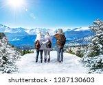 family enjoying beautiful ... | Shutterstock . vector #1287130603