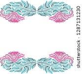 floral frame. vector... | Shutterstock .eps vector #1287131230
