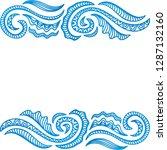 sea frame. vector illustration | Shutterstock .eps vector #1287132160
